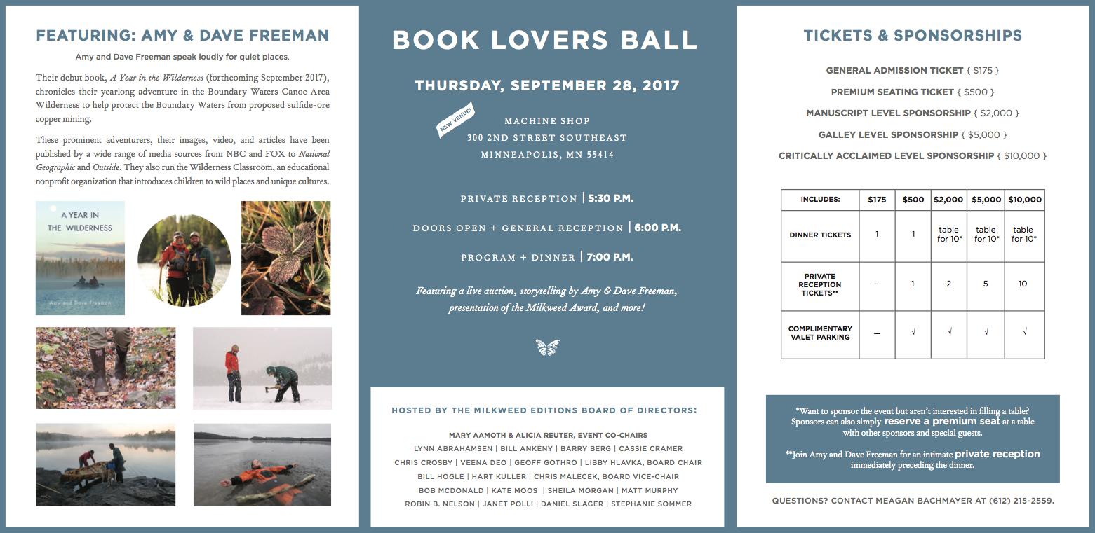 Book Lovers Ball 2017 | Milkweed Editions