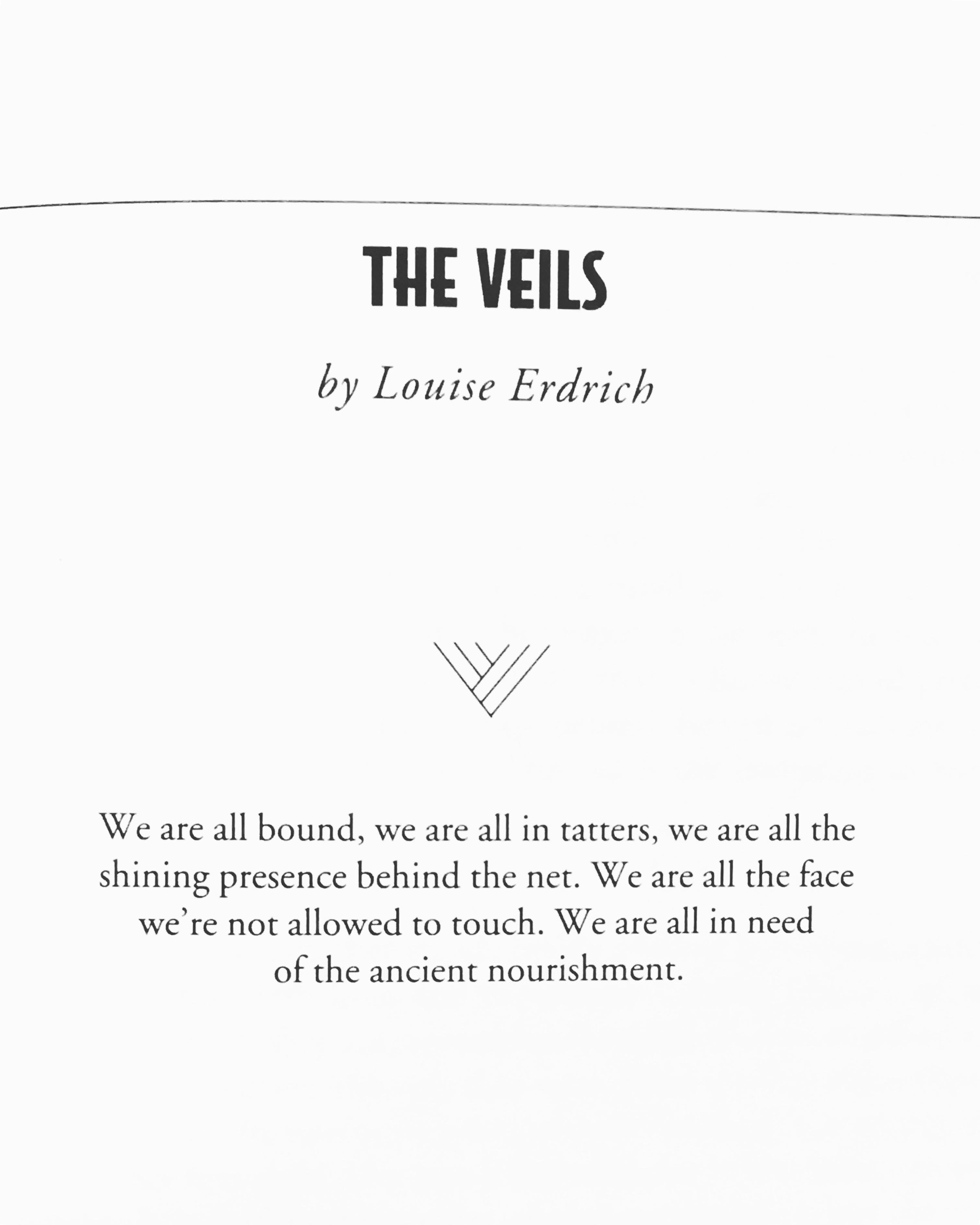 """The Veils,"" Louise Erdrich | Milkweed Editions"