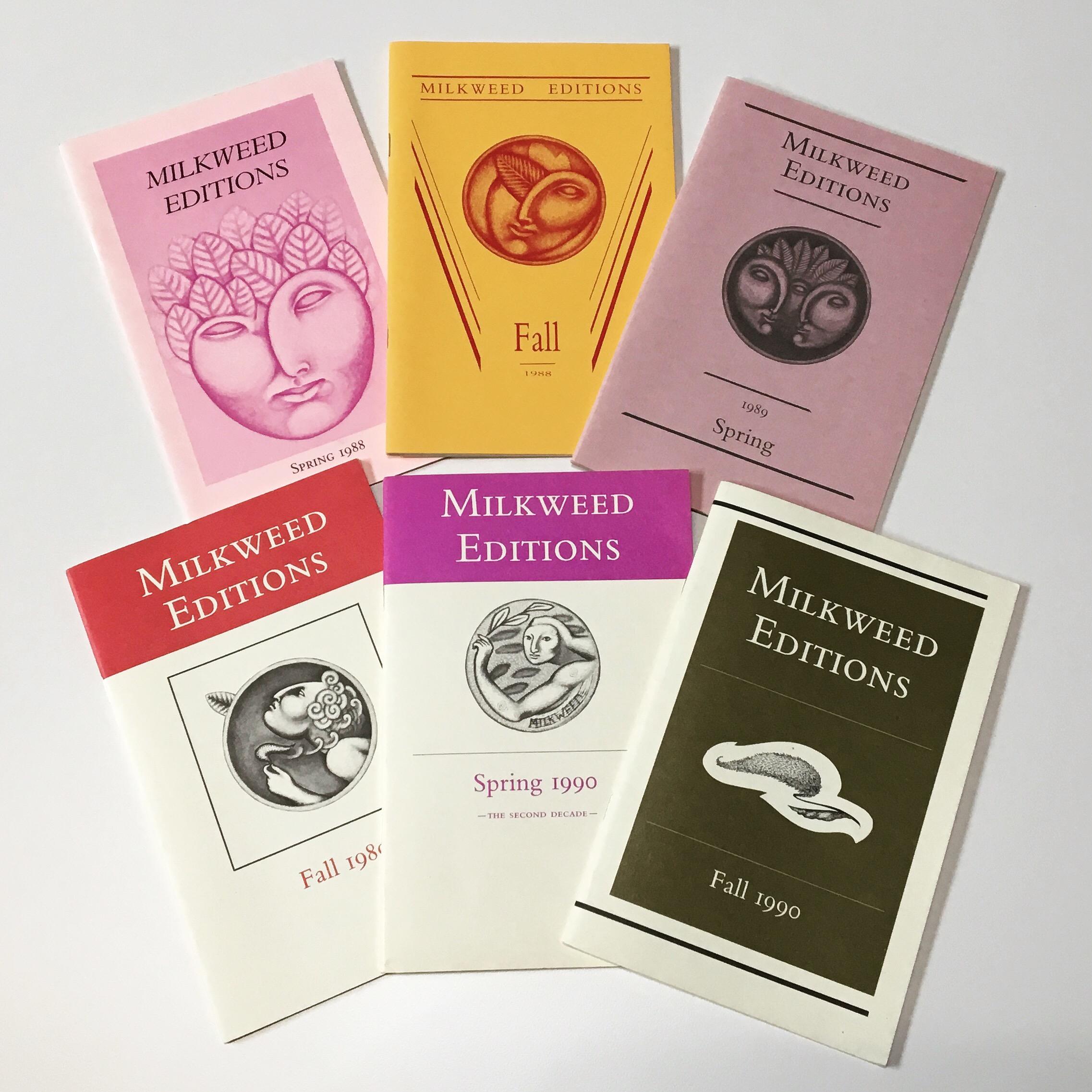 Milkweed Catalogs 1988–1990 | Milkweed Editions