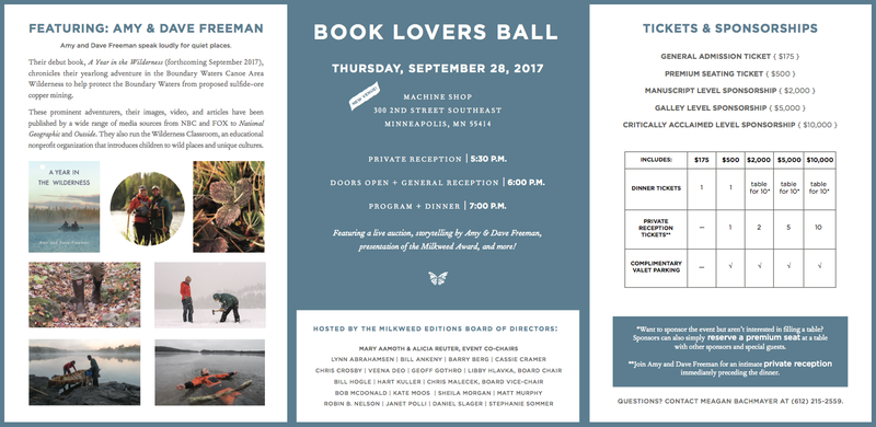 Book Lovers Ball 2017 | Milkweed Editions