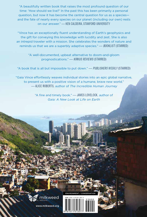 Adventures in the Anthropocene (back cover)