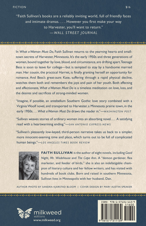 What a Woman Must Do (back cover)