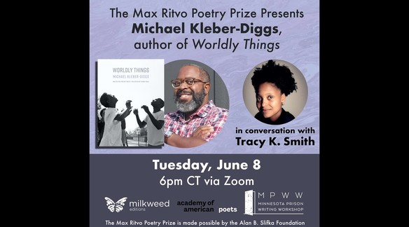 Watch: The Max Ritvo Poetry Prize Presents Michael Kleber-Diggs, author of WORLDLY THINGS | Milkweed Editions