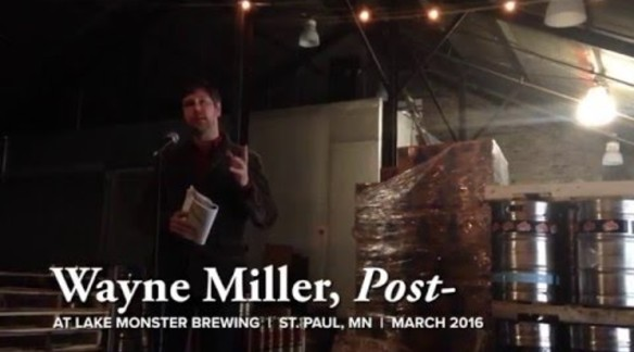 "WAYNE MILLER READS A ""POST-ELEGY"" IN MINNEAPOLIS"